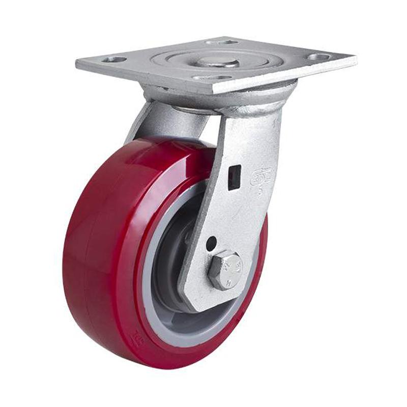 易得力重型5英寸380kg平顶万向高强度聚氨酯(TPU)亚博体育苹果下载70115-705-86