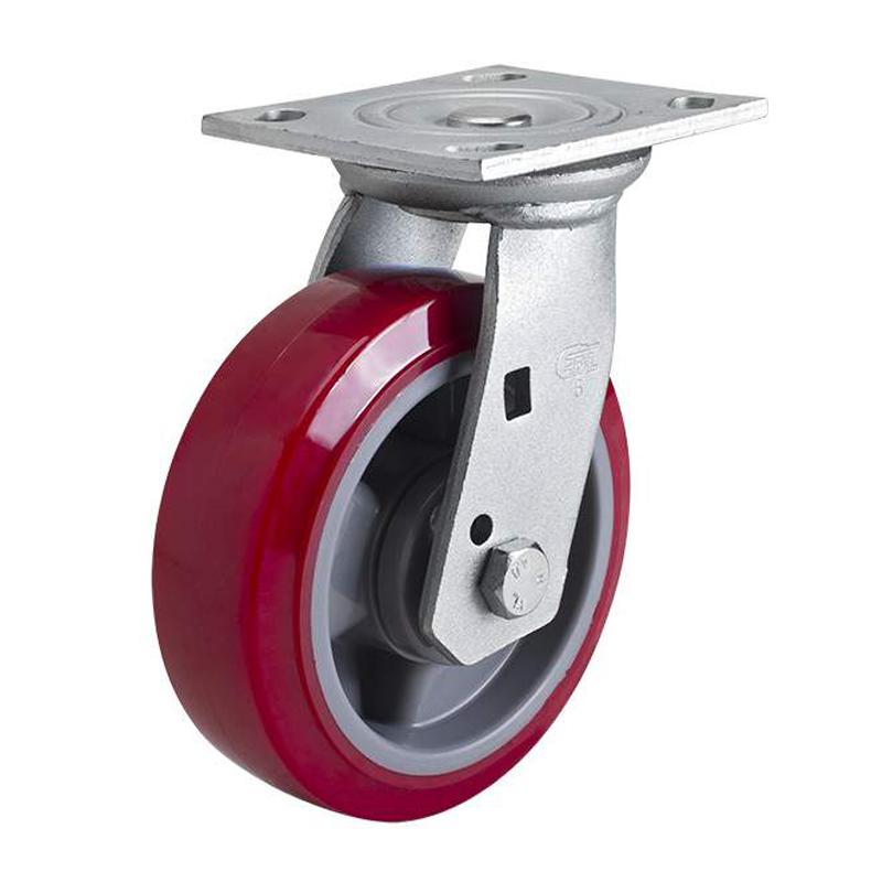 易得力重型6英寸420kg平顶万向高强度聚氨酯(TPU)亚博体育苹果下载70116-706-86