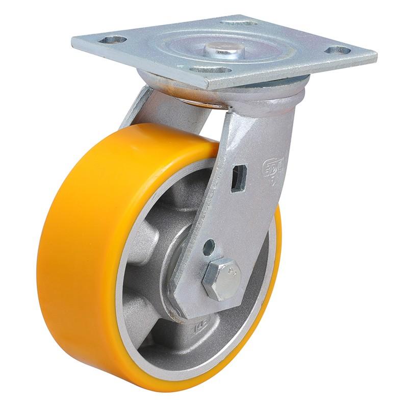 易得力重型5英寸400kg平顶万向高强度聚氨酯铝芯(TPU)亚博体育苹果下载70115-705-86A