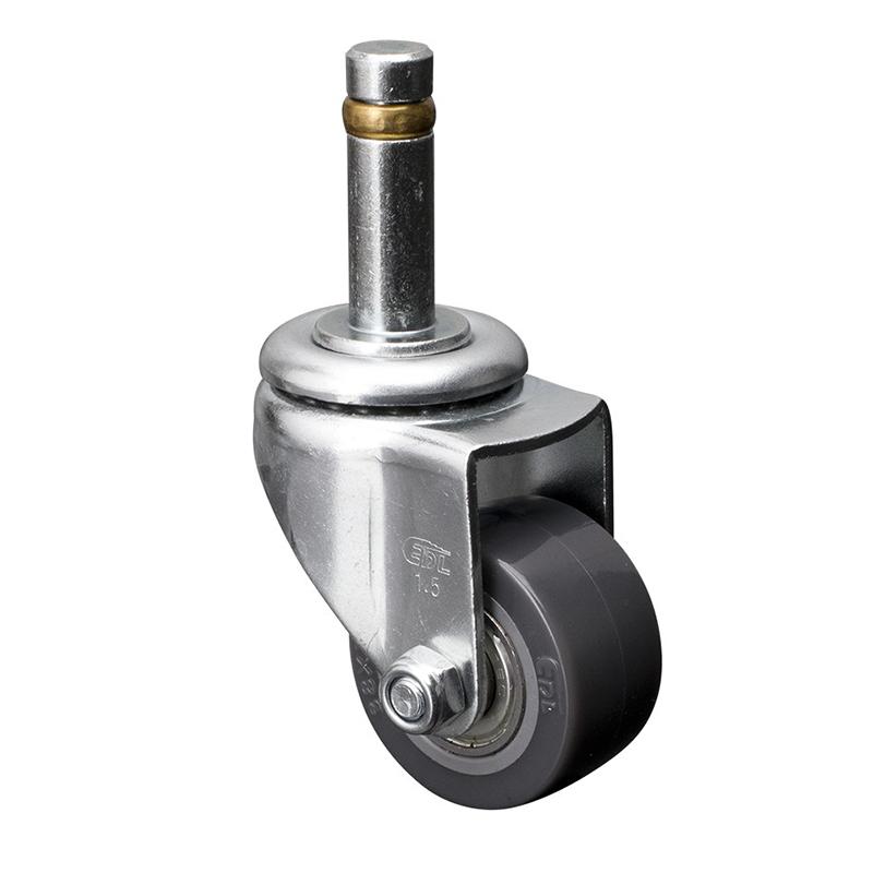 易得力小型1.5英寸40kg插杆万向聚氨酯PU亚博体育苹果下载261515-2615-76