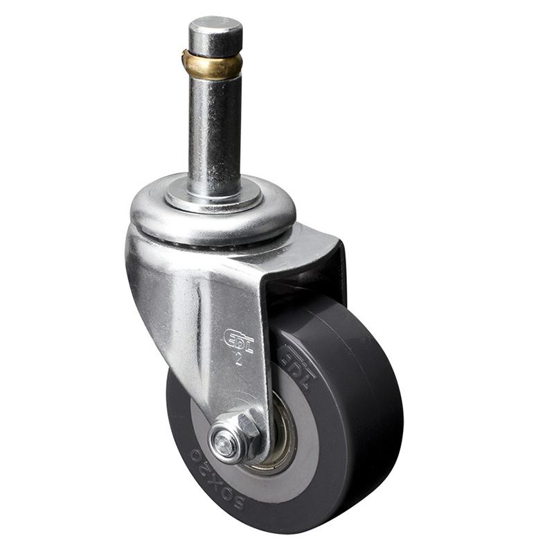 易得力小型2英寸40kg插杆万向聚氨酯PU亚博体育苹果下载26152-262-76