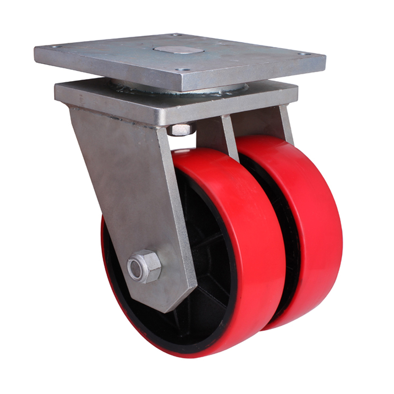 """EDL Extra-Heavy 10"""" 3000kg Plate Swivel TPU Caster 951110-9510-86T"""