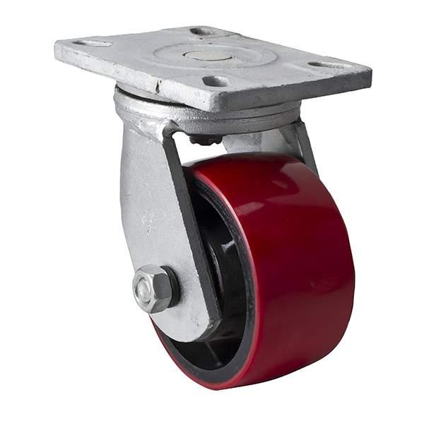 易得力重磅型6英寸1300kg平顶万向高强度聚氨酯(TPU)亚博体育苹果下载93116-936-86T