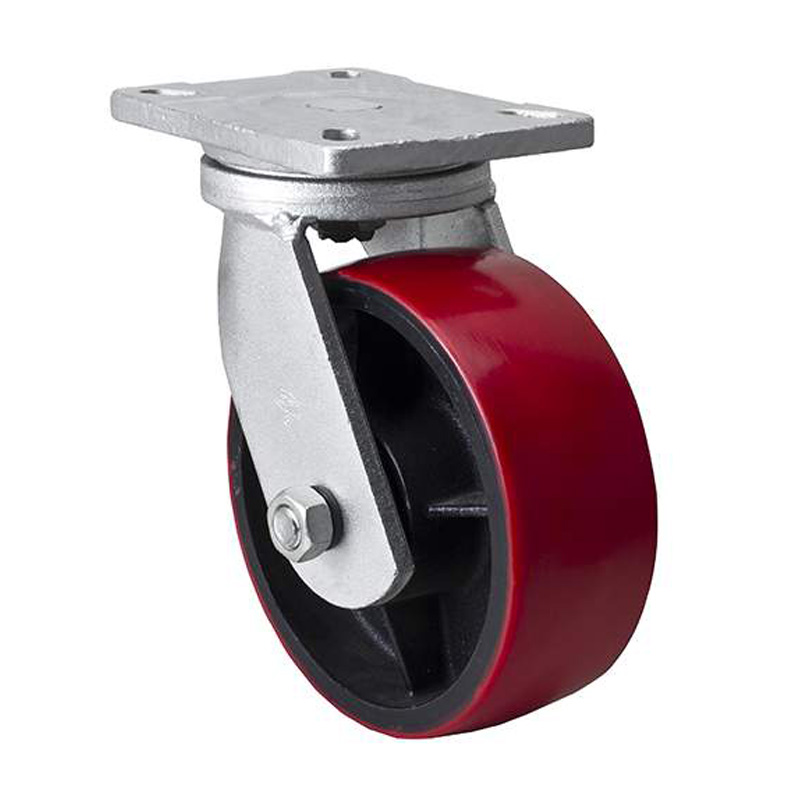 """EDL Extra-Heavy 8"""" 1400kg Plate Swivel TPU Caster 93108-938-86T"""