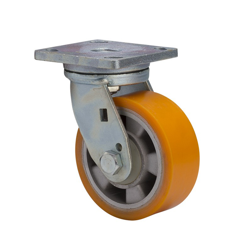 "EDL Heavy 5"" 700kg Plate Swivel TPU Caster 78115-785-86A"