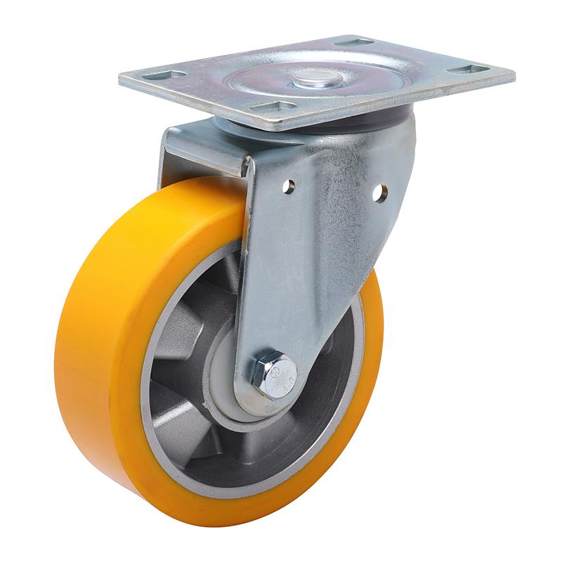 易得力重型6英寸430kg平顶万向高强度聚氨酯铝芯(TPU)亚博体育苹果下载 77116-786-86A/M12X80