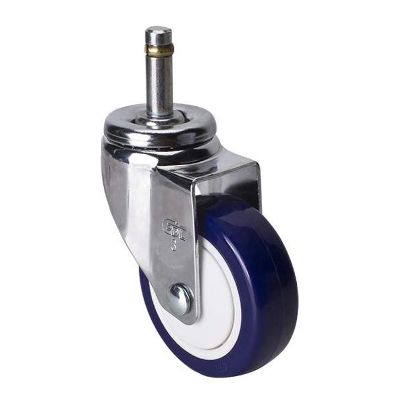 易得力轻型3英寸80kg插杆万向高强度聚氨酯TPU亚博体育苹果下载37153-373-87