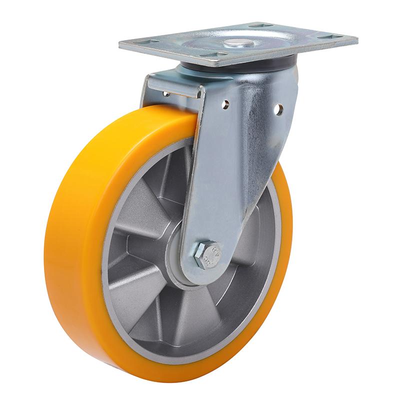 易得力重型8英寸450kg平顶万向高强度聚氨酯铝芯(TPU)亚博体育苹果下载 77118-788-86A/M12X80