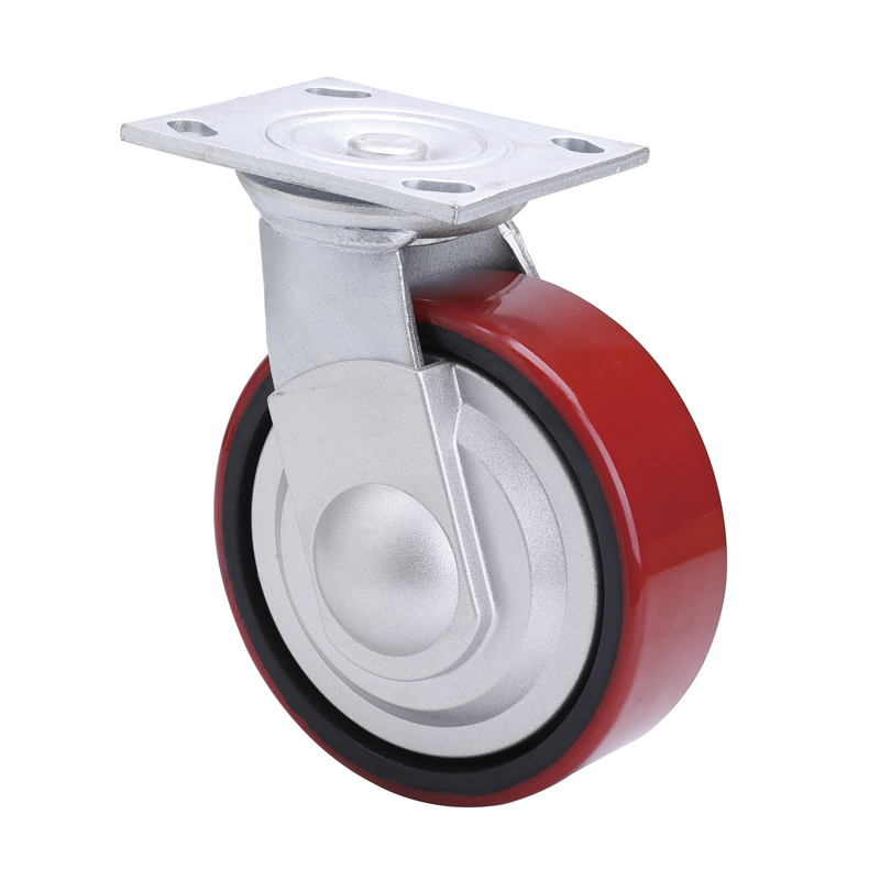 EDL Anti-winding Heavy 6''420Kg Plate Swivel TPU Caster  L70116-L706-86T