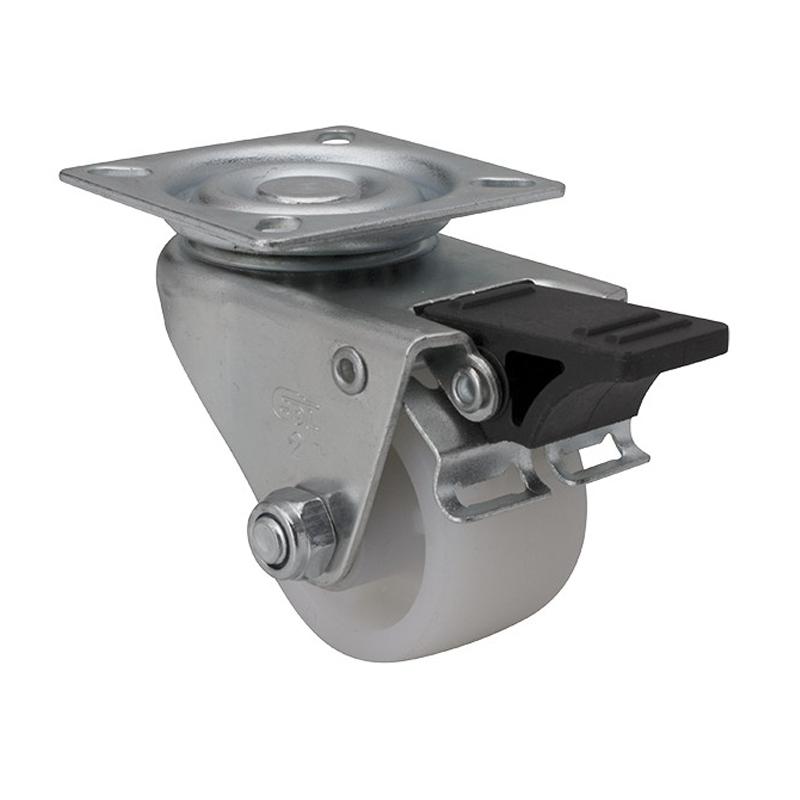 易得力低重心2英寸80Kg平板塑双刹聚烯烃PO设备亚博体育苹果下载M31122H-M312-04
