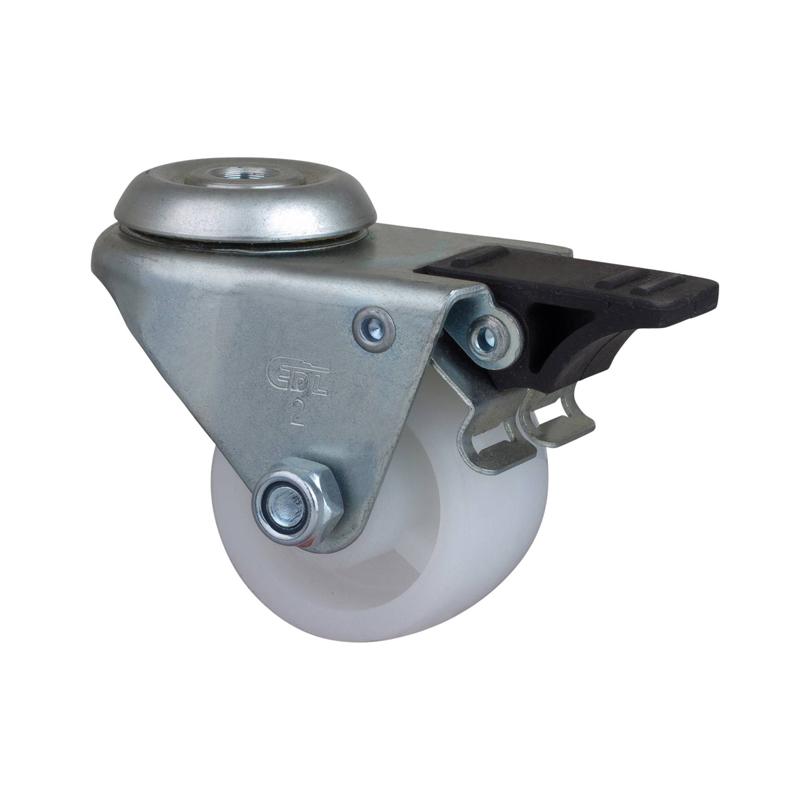 易得力低重心2英寸80Kg空颈塑双刹聚烯烃PO设备亚博体育苹果下载M31182H-M312-04