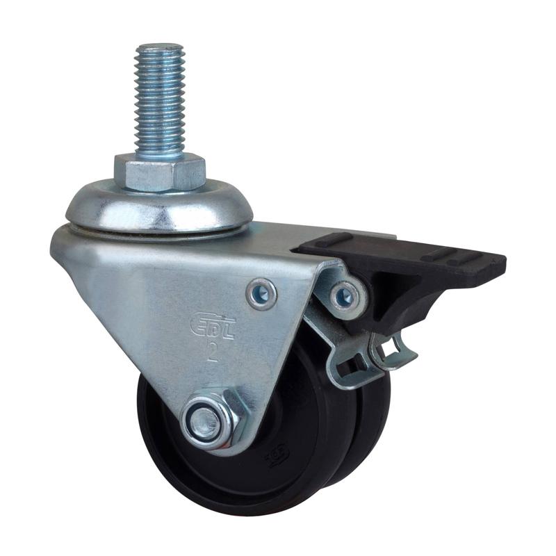 易得力低重心2英寸低重心80Kg丝杆塑双刹尼龙PA设备亚博体育苹果下载M31142H-M312-13