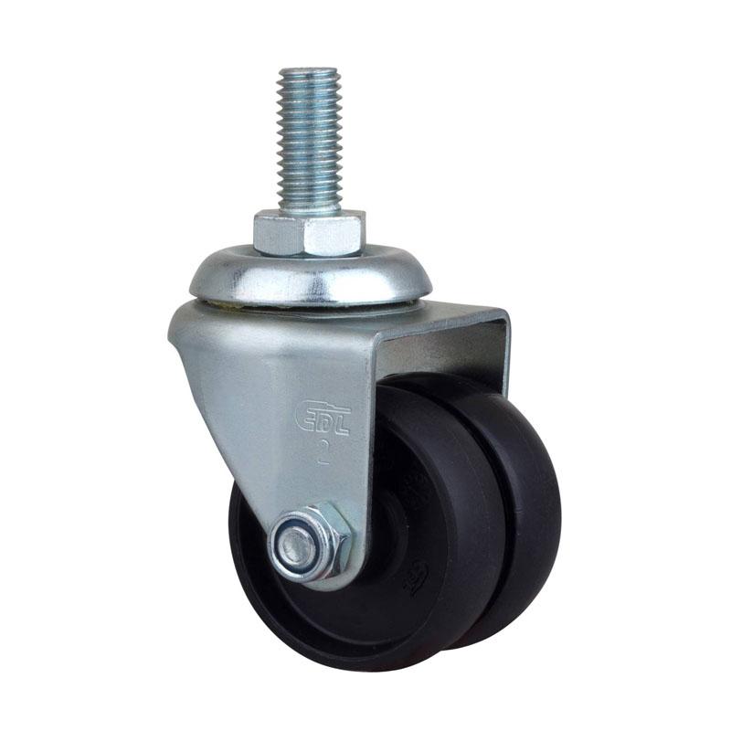 易得力低重心2英寸80Kg丝杆万向尼龙PA设备亚博体育苹果下载M31132-M312-13