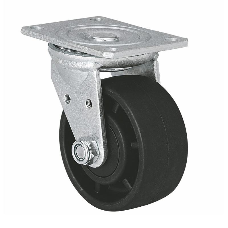 易得力 低重心4寸300kg平顶万向尼龙(PA)设备亚博体育苹果下载 M72114-M724-16