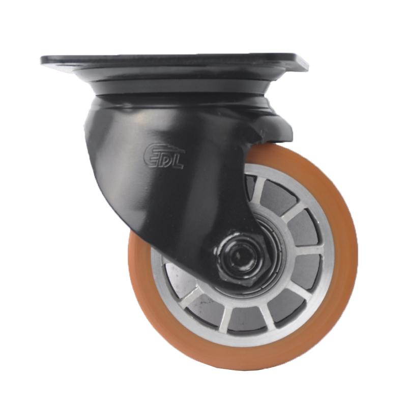 易得力低重心3寸500kg平顶万向高强度聚氨酯TPU设备亚博体育苹果下载M43313-M433-86A