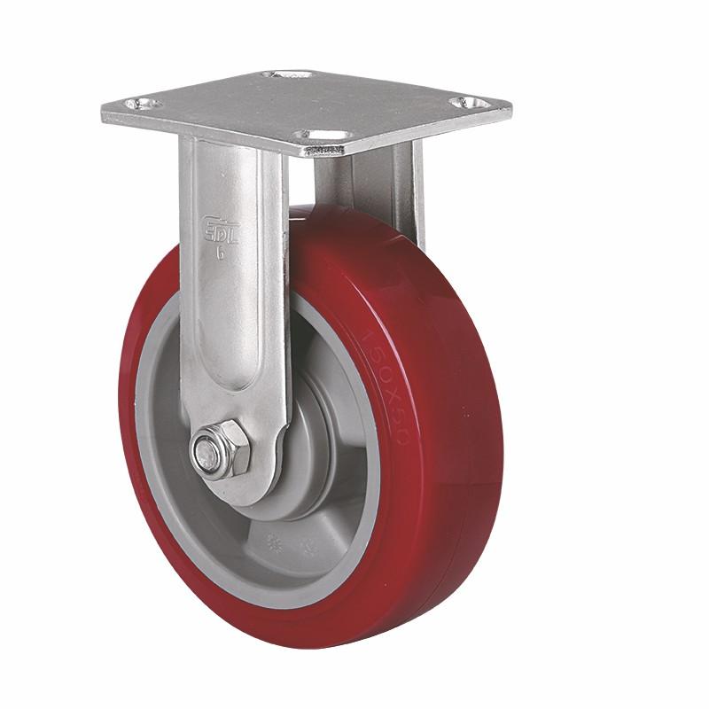易得力不锈钢重型6英寸420Kg定向高强度聚氨酯TPU亚博体育苹果下载S71706-S716-86