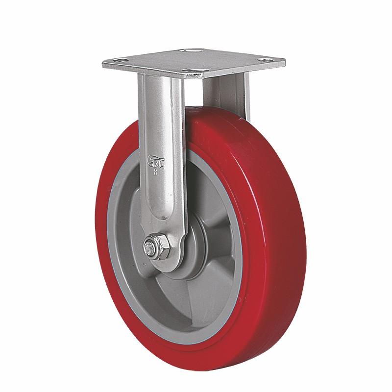 易得力不锈钢重型8英寸450Kg定向高强度聚氨酯TPU亚博体育苹果下载S71708-S718-86