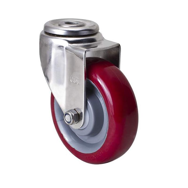 易得力不锈钢中型4英寸150kg空颈万向聚氨酯TPU亚博体育苹果下载S54774-S544-85