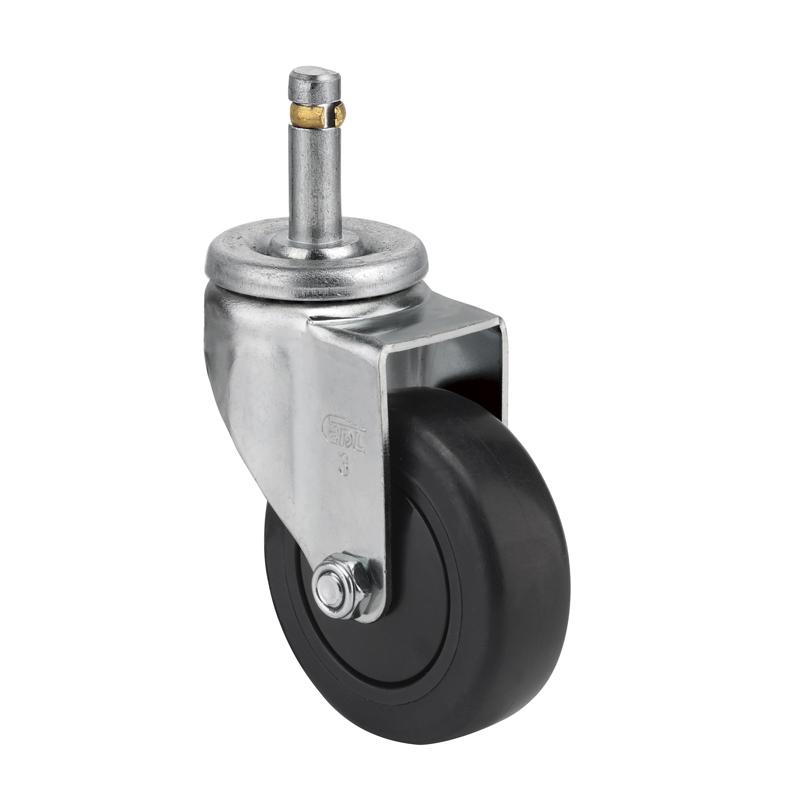 易得力轻型3英寸70kg插杆万向人造胶TPE导电亚博体育苹果下载 C36153-C363-C57