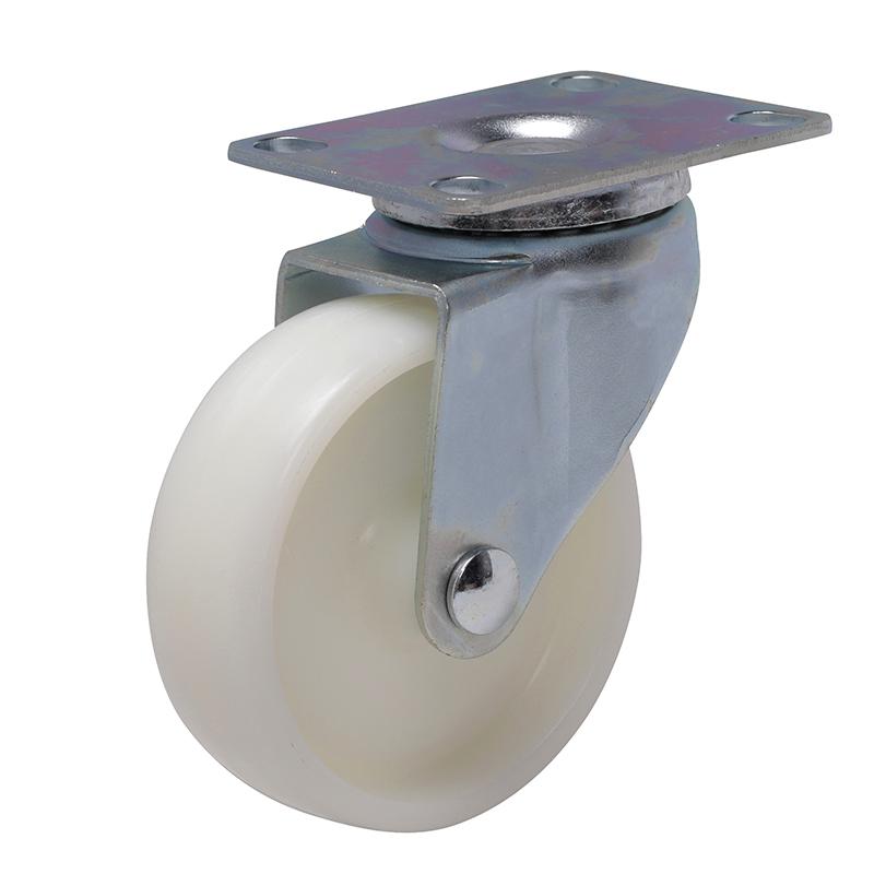 易得力轻型3英寸80kg平顶万向高强度尼龙TPA亚博体育苹果下载33113-333-23