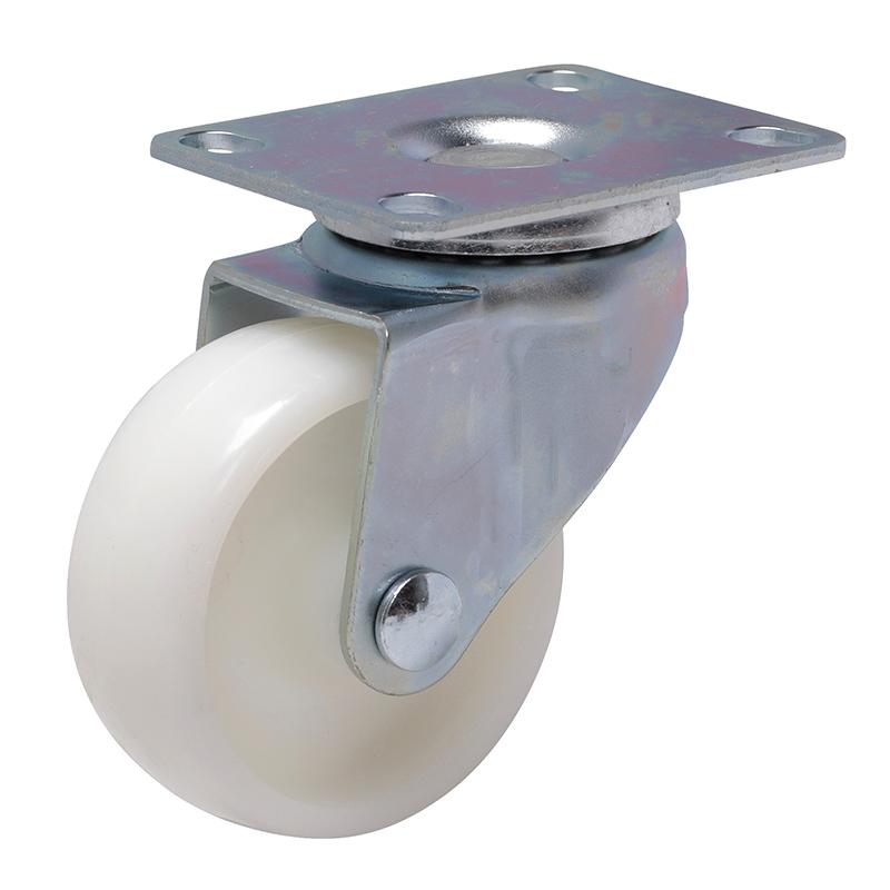 易得力轻型2.5英寸80kg平顶万向高强度尼龙TPA亚博体育苹果下载331125-3325-23