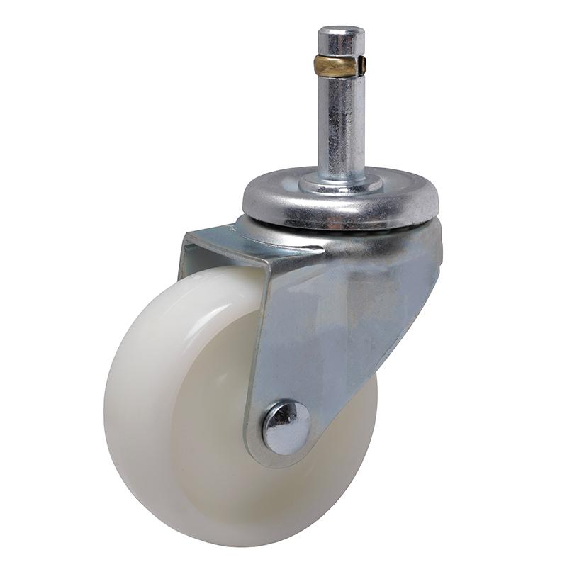 易得力轻型2.5英寸80kg插杆万向高强度尼龙TPA亚博体育苹果下载331525-3325-23