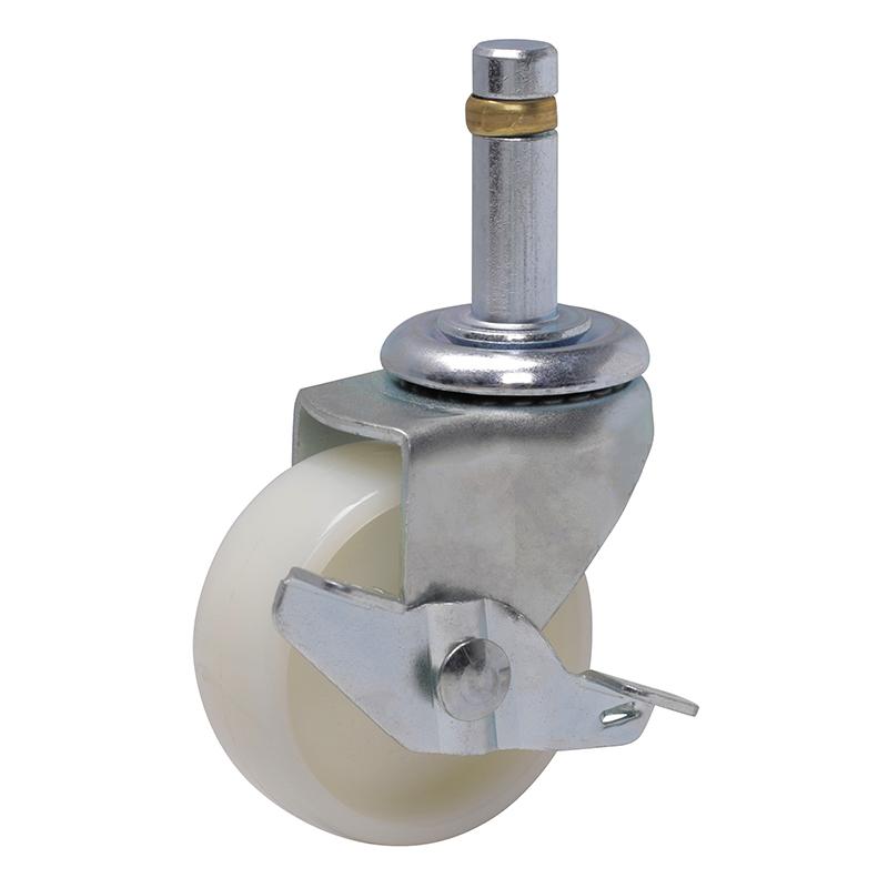 易得力小型2英寸50kg插杆轴刹高强度尼龙TPA亚博体育苹果下载22162A-222-22/A
