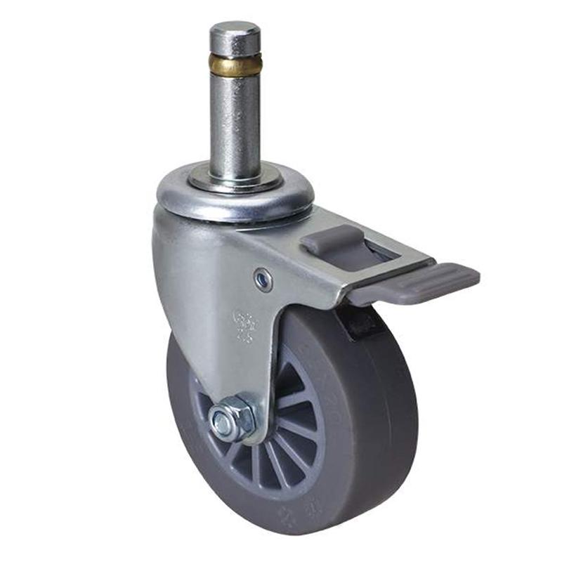易得力小型2.5英寸30kg插杆塑双刹人造胶TPE亚博体育苹果下载261625H-2625-53