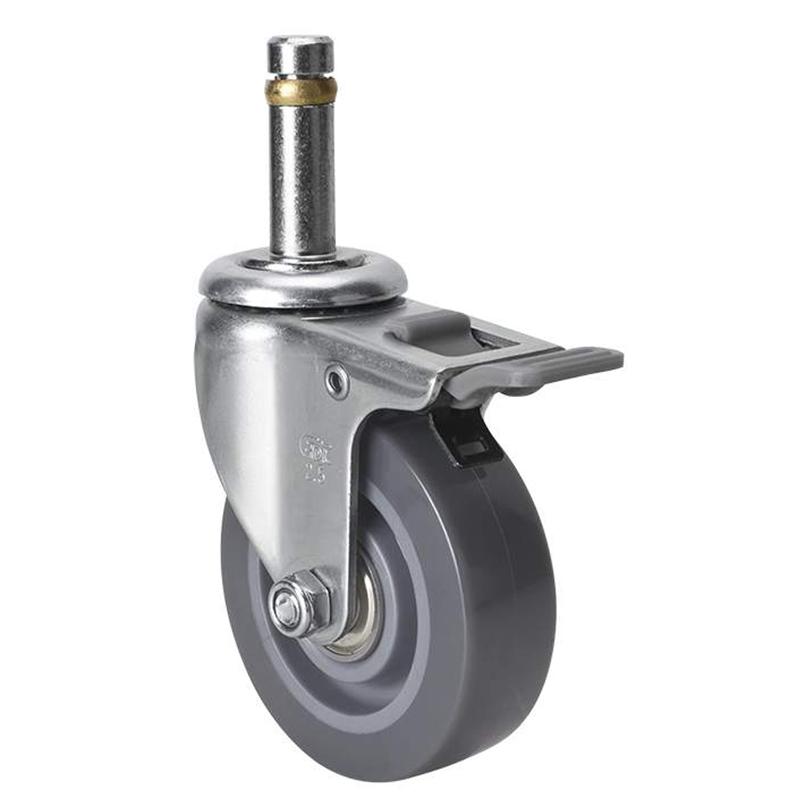 易得力小型2.5英寸40kg插杆塑双刹聚氨酯亚博体育苹果下载261625H-2625-76