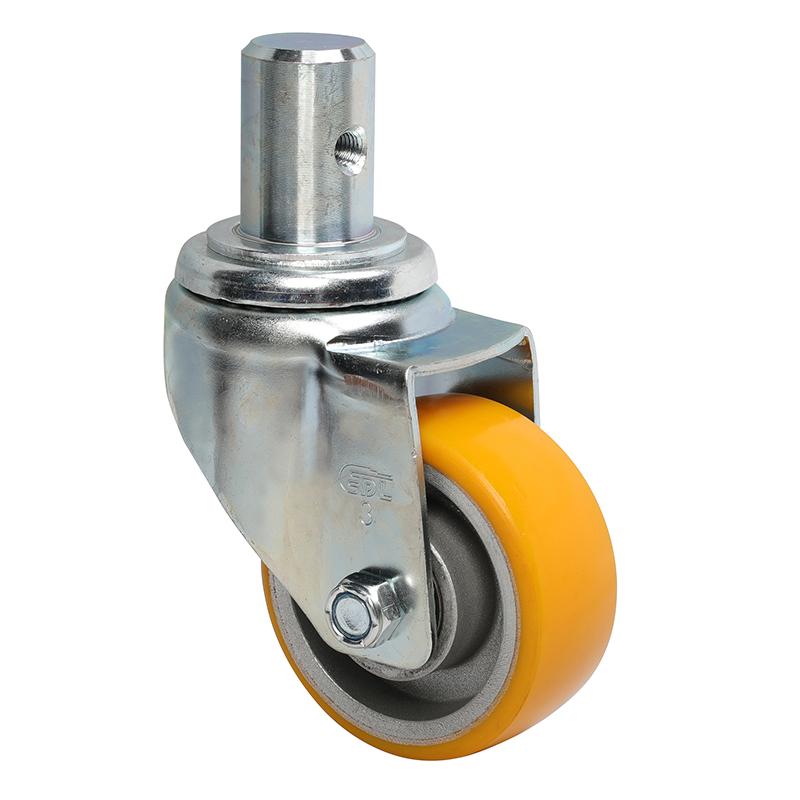 易得力中型3英寸150Kg插杆万向高强度聚氨酯TPU亚博体育苹果下载50153-503-86A