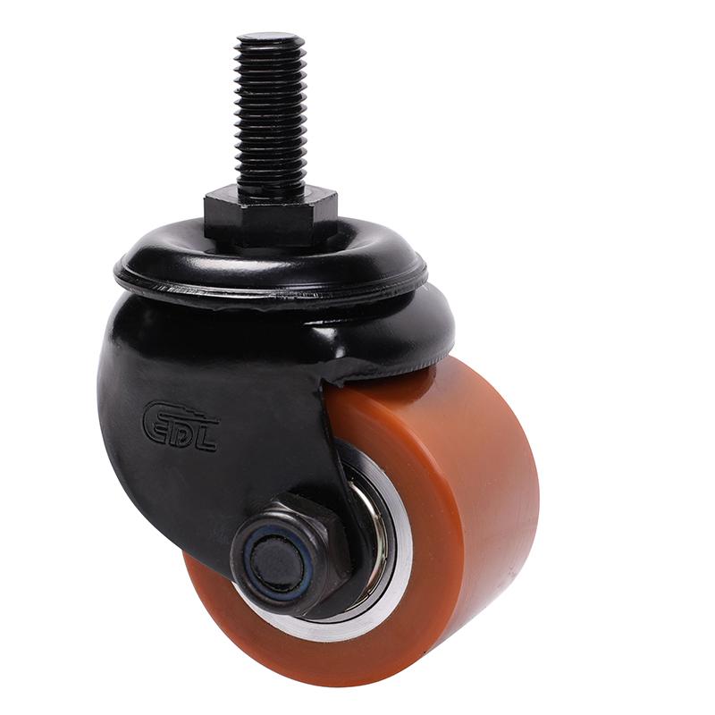 易得力低重心2寸250kg丝杆万向高强度聚氨酯TPU设备亚博体育苹果下载M41332-M412-86A