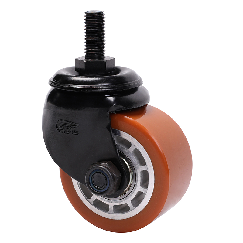 易得力低重心2.5寸300kg丝杆万向高强度聚氨酯TPU设备亚博体育苹果下载M413325-M4125-86A