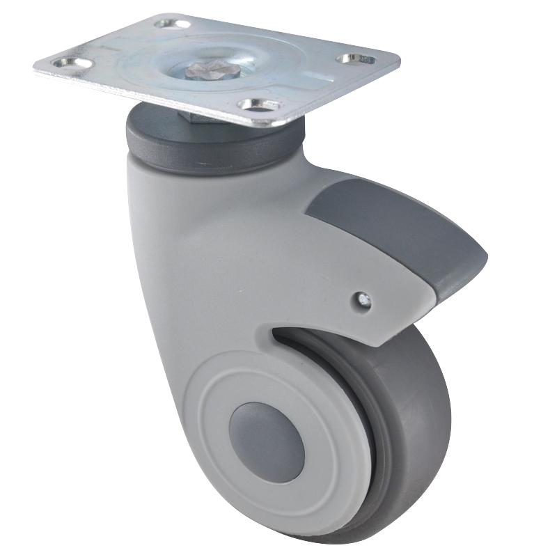 易得力全塑医疗3寸平板万向60kg人造胶(TPR)亚博体育苹果下载 E36013-57