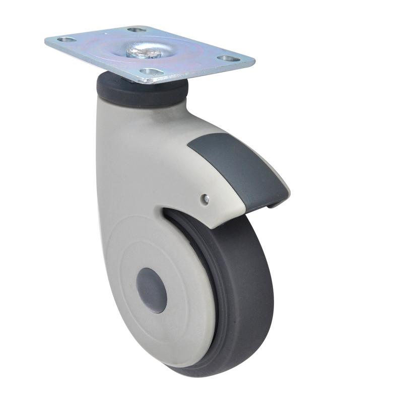 易得力全塑医疗4寸平板万向60kg人造胶(TPR)亚博体育苹果下载 E36014-57