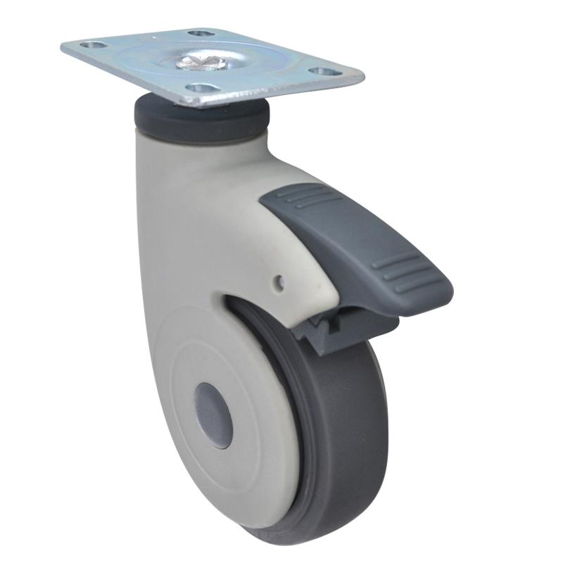 易得力全塑医疗4寸平板万向刹车60kg人造胶(TPR)亚博体育苹果下载 E36024H-57