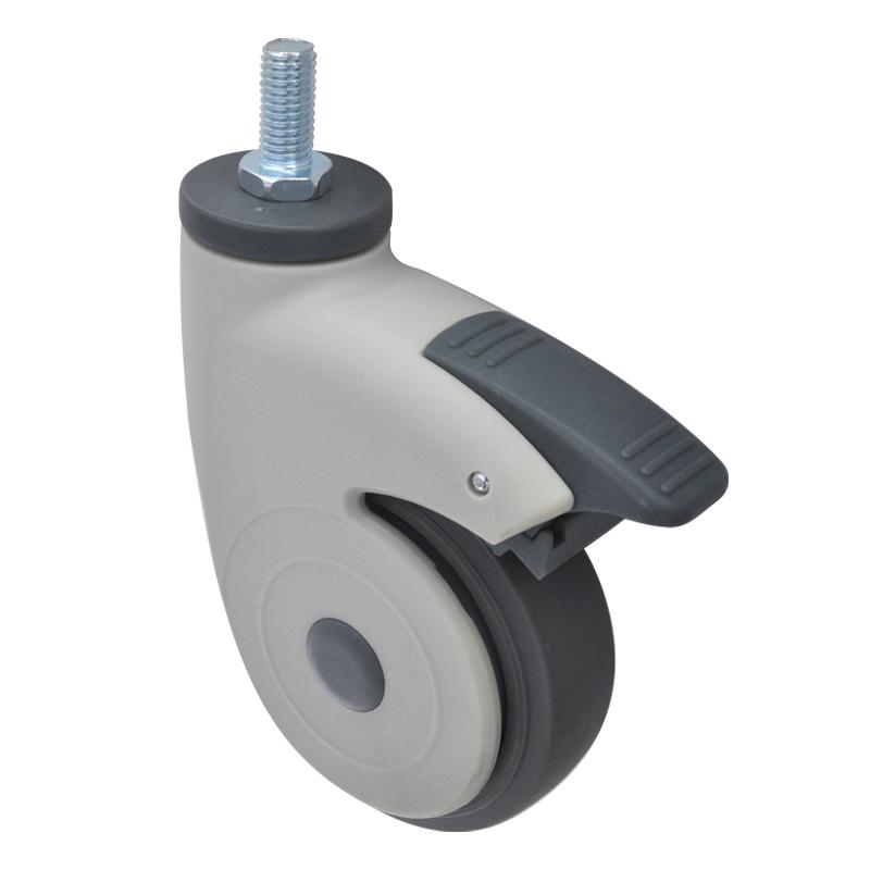 易得力全塑医疗4寸丝杆万向刹车60kg人造胶(TPR)亚博体育苹果下载 E36044H-57