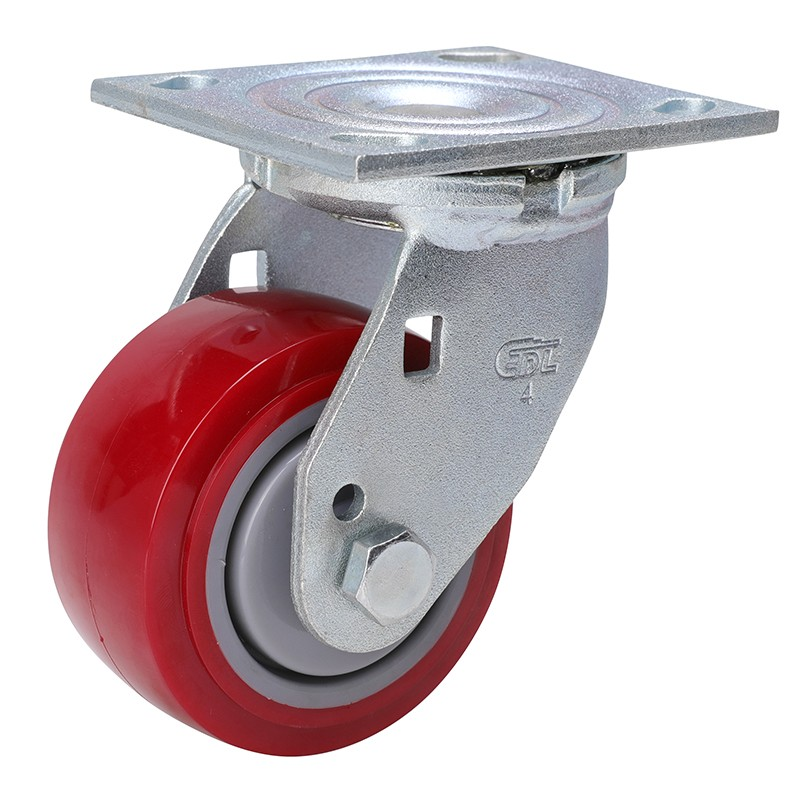 易得力重型4英寸350kg平顶万向高强度聚氨酯(TPU)亚博体育苹果下载73114-734-86