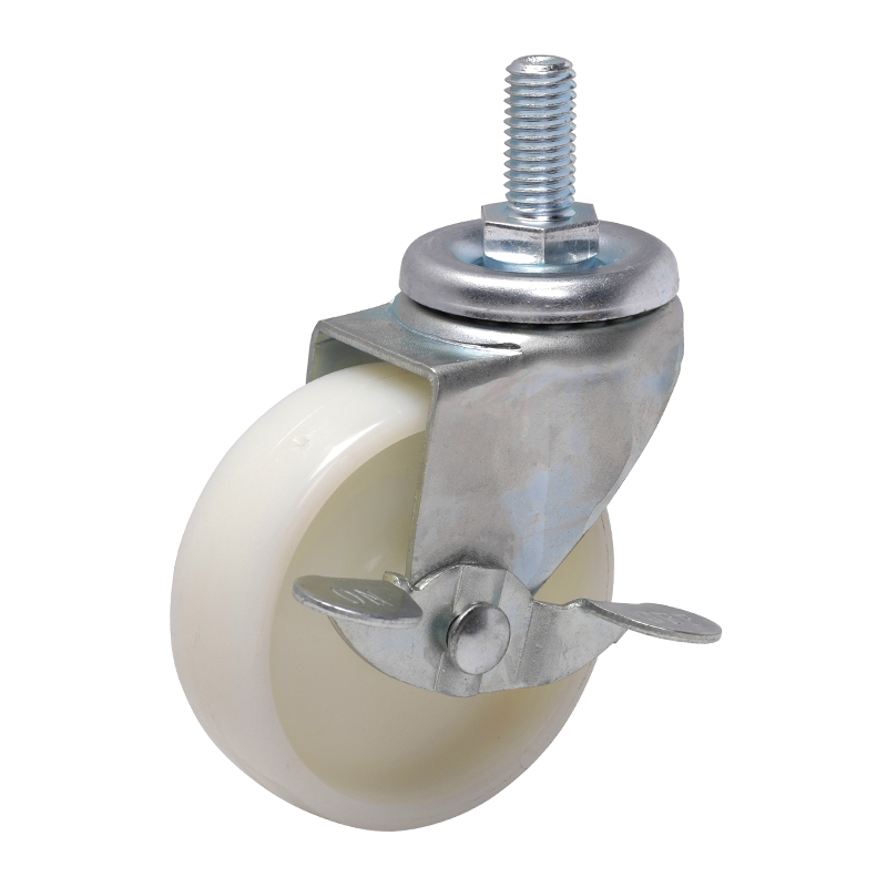 EDL Light 3'' 80kg Threaded Axle Brake TPA Caster 33143A-333-22/A